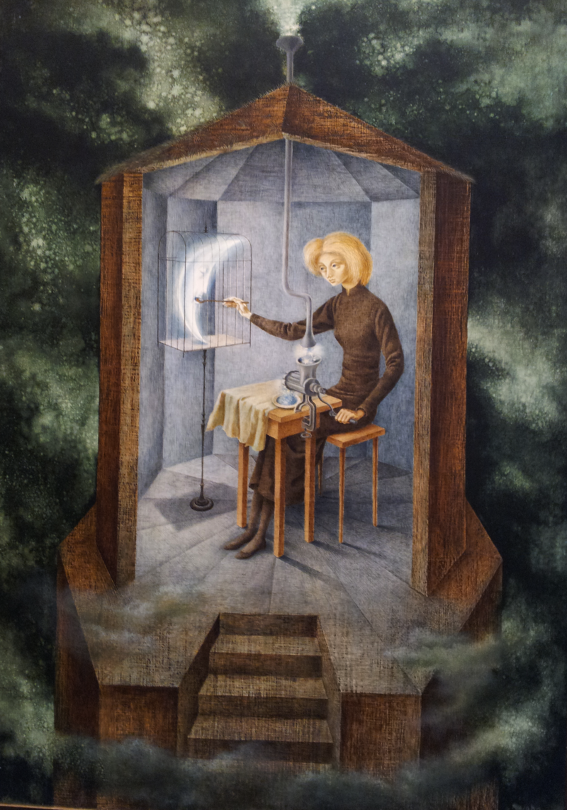 "Inspired by Art Herstory: Remedios Varo's ""Celestial Pablum"" (1958)"